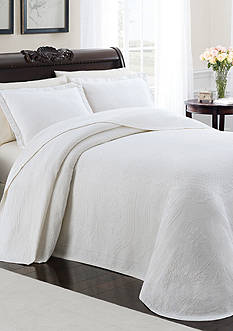 Lamont Home Cambridge Manor Full White Bedspread