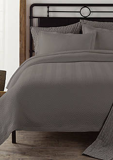 Lamont Home Chevron Twin Coverlet Charcoal Grey