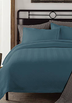 Lamont Home Chevron Twin Coverlet Tapestry Blue