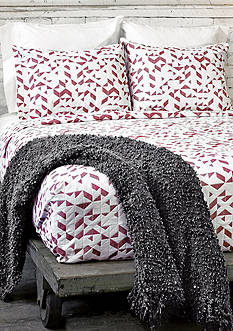 Lamont Home Kinetic King COverlet Red/White