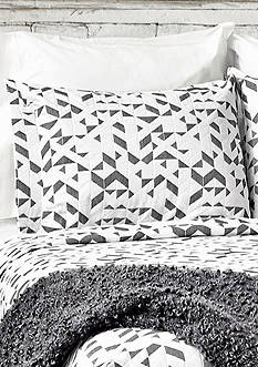 Lamont Home Kinettic King Sham Black/ White