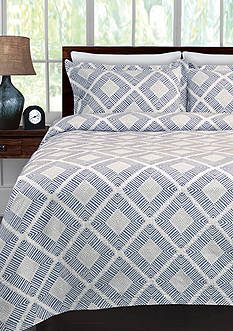 Lamont Home Equinox Twin COverlet Blue