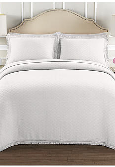 Lamont Home Valencia White Bedspread Collection