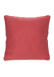 Home Accents Casual Living Mandala Nantucket Red Quilted Decorative Pillow