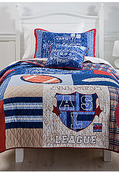 J Khaki American League Quilt Collection