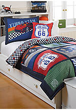 Race Track Full/Queen Quilt Set 86-in. x 86-in. with Shams 20-in. x 26-in.