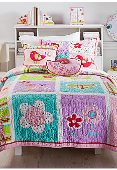 J Khaki Love Dove Quilt Collection