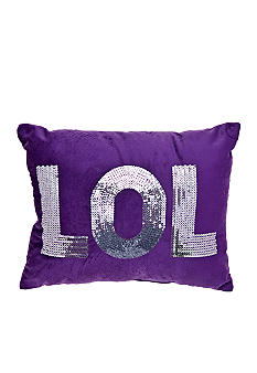 Home Accents LOL Purple Sequin Decorative Pillow