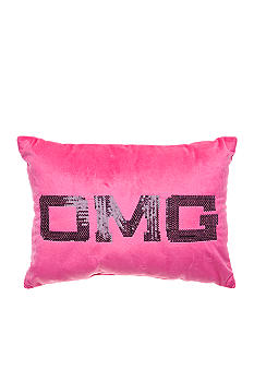 Home Accents OMG Pink Sequin Decorative Pillow