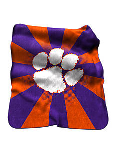 Logo Clemson Tigers Raschel Throw