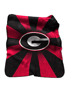 Logo Georgia Bulldogs Raschel Throw