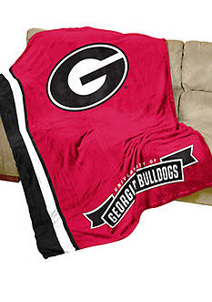 Logo Georgia Bulldogs UltraSoft Blanket