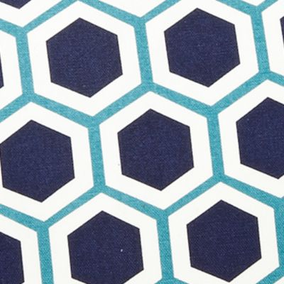 Ivy Hill Home: Navy Ivy Hill Home Hexagon Decorative Pillow