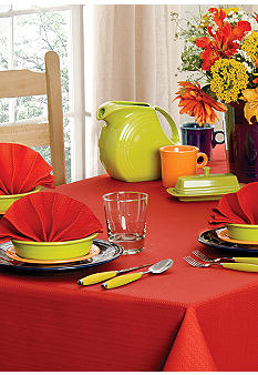 Fiesta Scarlet Zig Zag Table Linens