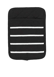 kate spade new york Grosgrain Stripe Black Pot Mitt