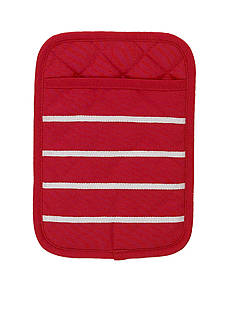 kate spade new york Grosgrain Stripe Maraschino Pot Mitt