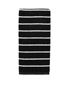 kate spade new york Grosgrain Stripe Black Kitchen Towel