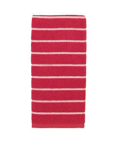 kate spade new york Grosgrain Stripe Maraschino Kitchen Towel
