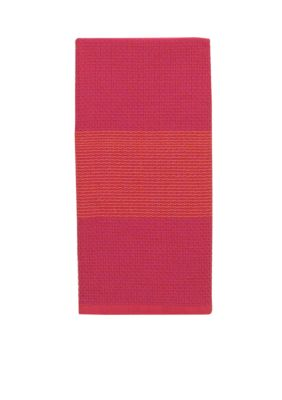 Buy Now kate spade new york Colorblock Honeycomb Stripe Maraschino Kitchen Towel Before Too Late