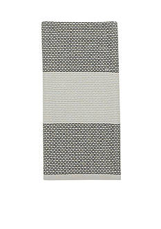 kate spade new york Honeycomb Stripe Flaxseed Kitchen Towel