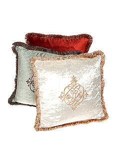 Biltmore For Your Home Velvet Embroidered Medallion Decorative Pillow