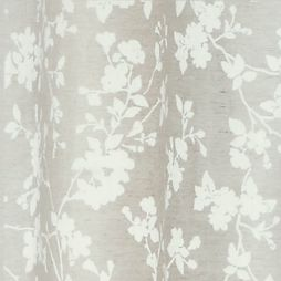 Patterned Curtains: Natural Laura Ashley LAURA ASHLEY ROTHBURY PANEL PAIR IVORY