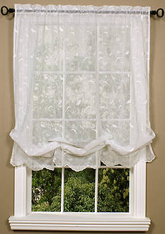 Commonwealth Home Fashions HATHAWAY BLLN CRTN WHITE 63IN