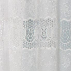 Window Valances: Off White Commonwealth Home Fashions ANNAMARIA TLRD PCKT PNL OFF WHT 84IN