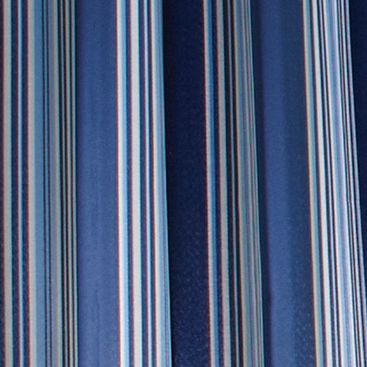 Patterned Curtains: Blue Commonwealth Home Fashions GAZEBO STRIPE OUTDR GRMMT PNL BLUE 84IN