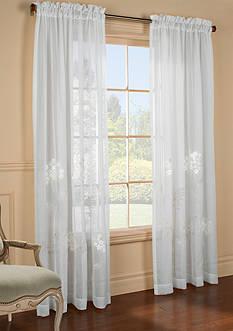 Commonwealth Home Fashions HYDRANGEA PNL WHT 95IN