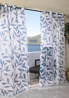 Commonwealth Home Fashions ESCAPE LF OUTDR GRMMT PNL BLUE 96IN