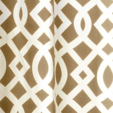 Patterned Curtains: Khaki Commonwealth Home Fashions TRELLIS GRMMT PNL PR KHKI 63IN