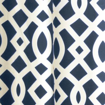 Patterned Curtains: Navy Commonwealth Home Fashions TRELLIS GRMMT PNL PR KHKI 95IN