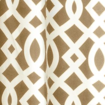 Patterned Curtains: Khaki Commonwealth Home Fashions TRELLIS GRMMT PNL PR KHKI 95IN