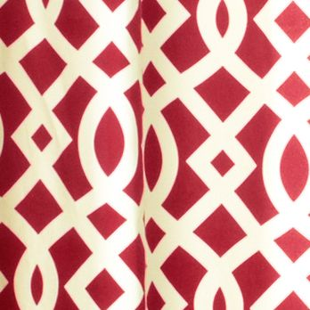 Patterned Curtains: Red Commonwealth Home Fashions TRELLIS GRMMT PNL PR KHKI 95IN