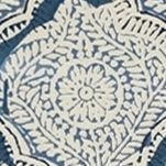 Discount Table Linens: Indigo Echo ECHO INDIAN STMP PM 4 PACK INDIGO