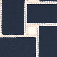 Table Linens and Placemats: Indigo Echo Lattice Place Mat 4-Pack