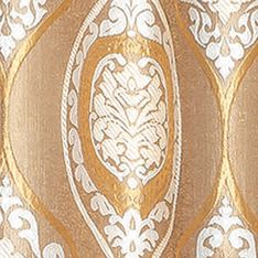 Patterned Curtains: Gold Dainty Home MONACO 104X84 GROMMET PANEL PR SAGE