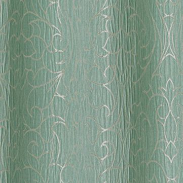 Patterned Curtains: Aqua Dainty Home MIRANDA 76X84 GROMMET PANEL PR SLVR