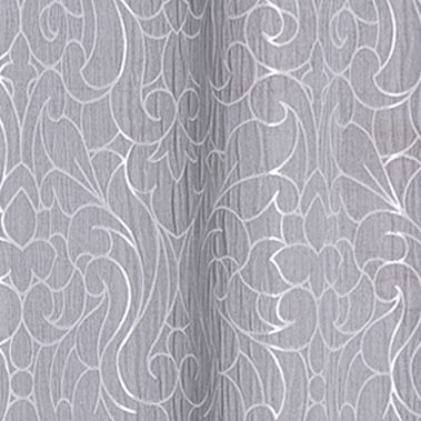 Patterned Curtains: Silver Dainty Home MIRANDA 76X84 GROMMET PANEL PR SLVR