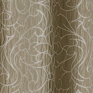 Patterned Curtains: Taupe Dainty Home MIRANDA 76X84 GROMMET PANEL PR SLVR