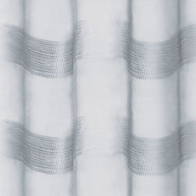 Patterned Curtains: Silver Dainty Home PARISIENNE 76X84 SILVER
