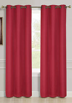 Dainty Home Striated Foam Backed Blackout Window Panel Pair