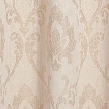 Patterned Curtains: Gold Dainty Home VIENNA 76X84 GROMMET PANEL PR GOLD