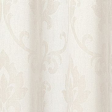 Patterned Curtains: Ivory Dainty Home VIENNA 76X84 GROMMET PANEL PR GOLD