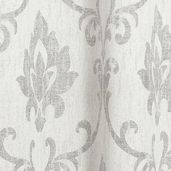Patterned Curtains: Silver Dainty Home VIENNA 76X84 GROMMET PANEL PR SILVER