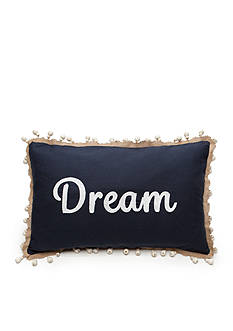 Elise & James Home™ Dream Navy Wooden Bead Decorative Pillow