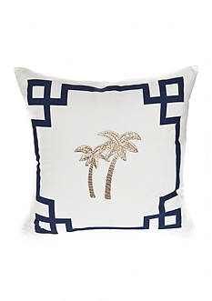 Elise & James Home™ Palm Tree Geo Border Decorative Pillow