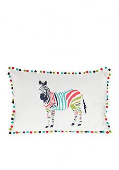 Elise & James Home™ Bright Zebra Crewel Decorative Pillow