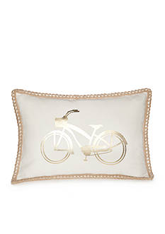 Elise & James Home™ Caribbean Bike Twine Border Decorative Pillow